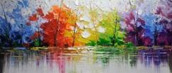 6. Ismeretlen festő: Absztrakt erdő